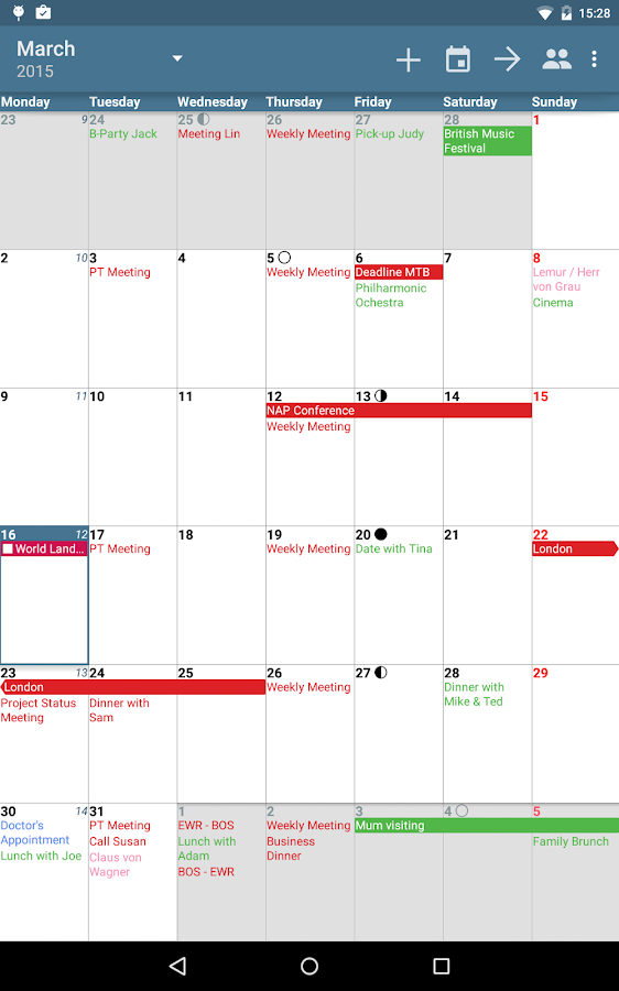 combined calendar and task to do applications