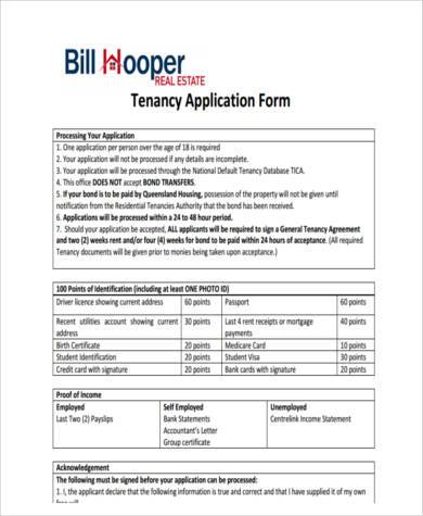 application for a residential tenancy bond