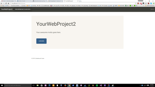 single page application with angularjs and spring mvc